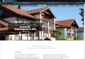 Concordia Wellnesshotel & Spa Screenshot Website
