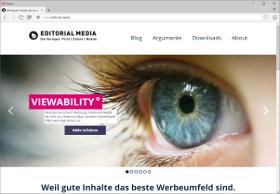 Editorial Media Screenshot Website