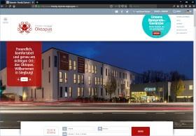 Friendly Cityhotel Oktopus Screenshot Website