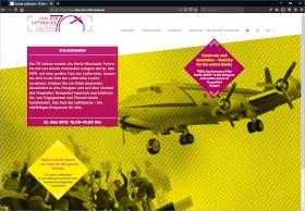 Fest der Luftbruecke Screenshot Website