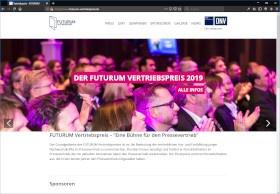 FUTURUM Vertriebspreis Screenshot Website