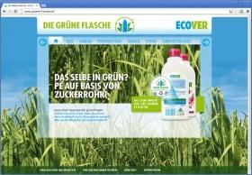 Ecover Grüne Flasche Website