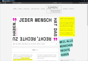 JUMEN e.V. Screenshot Website