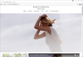 KAROLIN KRUGER Screenshot Website