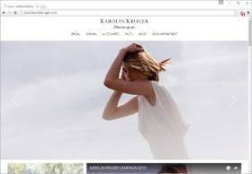 KAROLIN KRUGER Screenshot Website