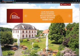 Hotel Kloster Nimbschen Screenshot Website