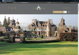 Manoir de Lébioles Screenshot Website