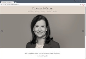 Daniela Möller Screenshot Website