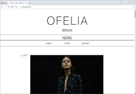 Ofelia Berlin Screenshot Website