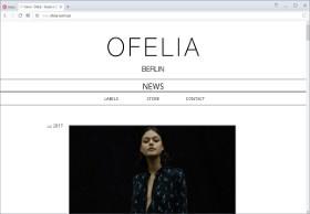 Ofelia Berlin Screenshot Website
