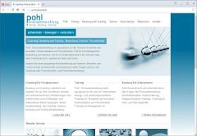Pohl Personalentwicklung Screenshot Website