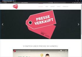 Presse verkauft Screenshot Website