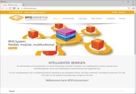 RFID Konsortium Screenshot Website