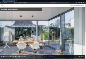 Scharrer Architektur Screenshot Website