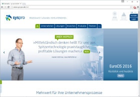 sys-pro GmbH Screenshot Website