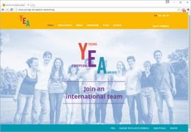 Young Europeans Award Screenshot Website