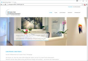 Praxis für Zahngesundheit Screenshot Website
